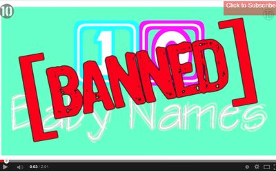 Banned Baby Names | Stay at Home Mum