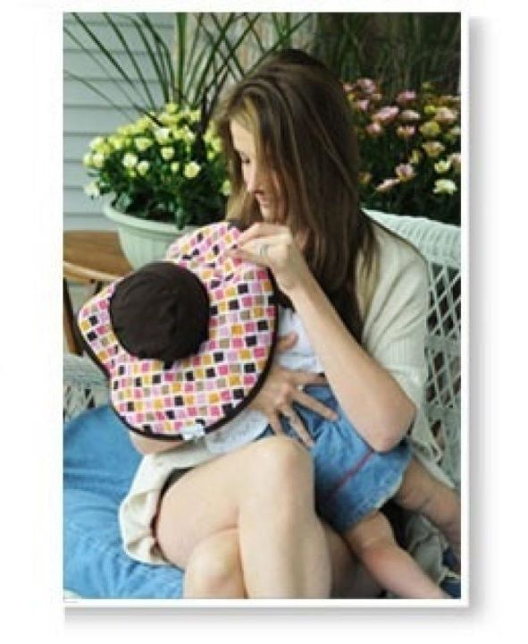 Alternative to breastfeeding cover. Cute!