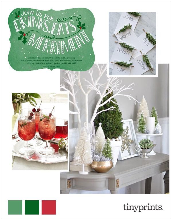 Love this!!! Jubilant Merriment Holiday Inspiration Board | Tiny Prints Blog