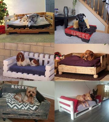 CreativeHatt: Dog Bed out of Recycled Wooden Pallets