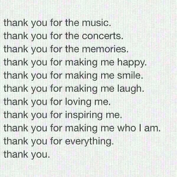 I'm such an emotional person! #Crying ♡ I'm going to post this to every band board to show them my appreciation ♡