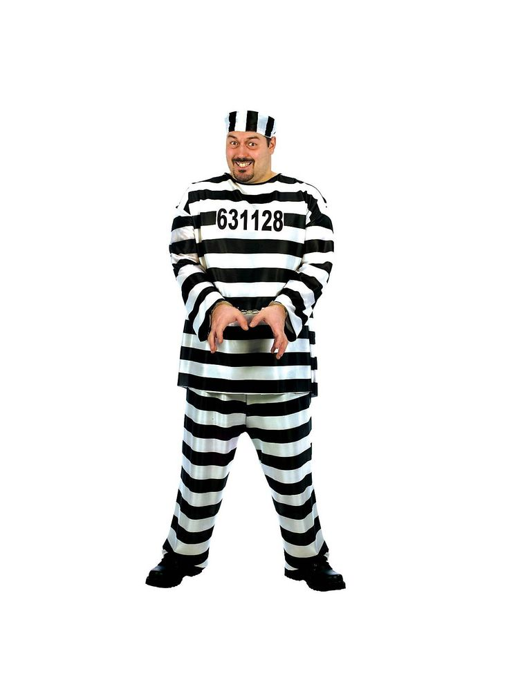 They include: Metal Handcuffs, Ball & Chain, Fake Dynamite, and Chain Gang Links. Don't let this particular Halloween costume get away as it will surely make you infamous!