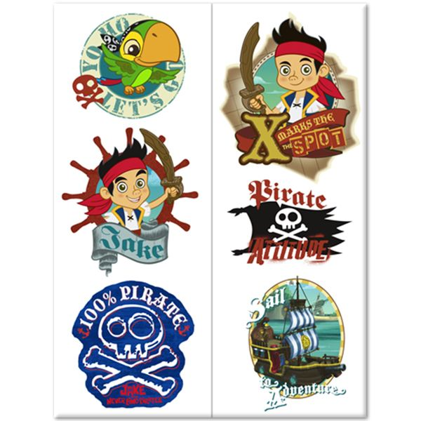 Jake and the Never Land Pirates Temporary Tattoos (12)