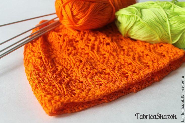 Купить Шапочка для девочки младенческого возраста - оранжевый, шапочка для девочки, шапочка вязаная, шапочка для фотосессии