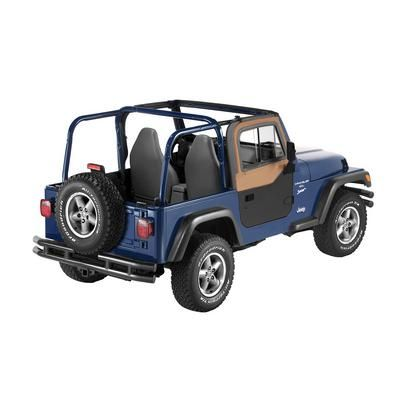 Bestop Upper Door Slider for Factory, Supertop and Sunrider tops with Factory Half Doors in Spice Denim -… #JeepParts #Jeep #JeepAccessories