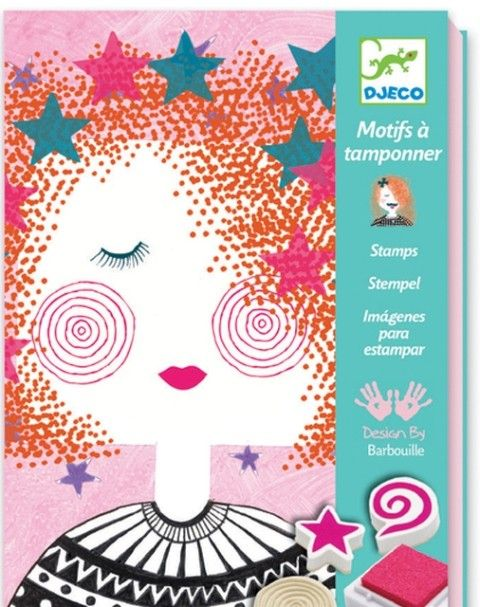Djeco - Stamp Set Fashion Girls - One thing we really don't have in the craft cupboard...STAMPS! This would be SO much fun for my M, who LOVES arts & crafts! - #EntropyWishList #PintoWin