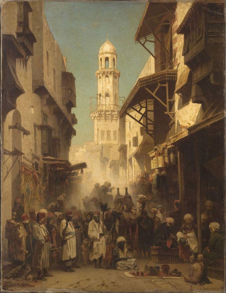 Street in Constantinople 1867  by Alberto Pasini