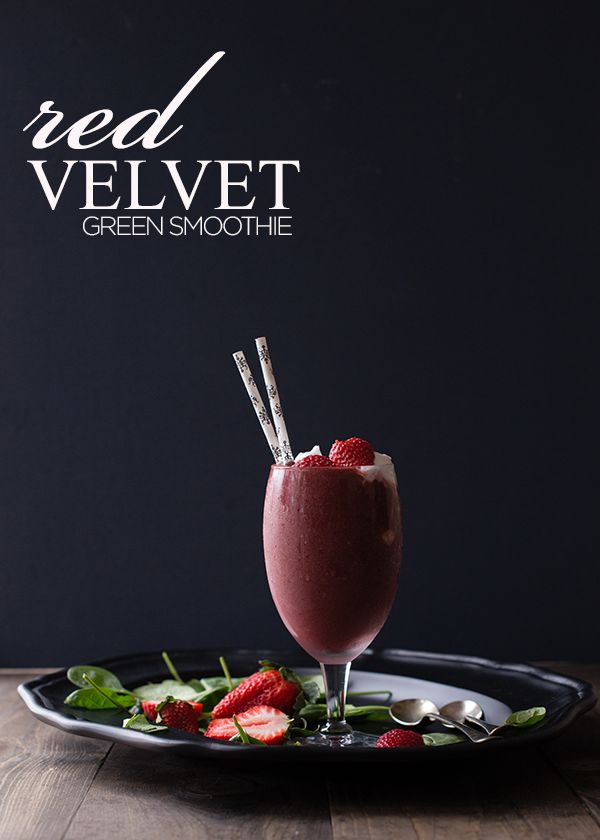 Make this to share with someone you love! Red Velvet Green Smoothie | SimpleGreenSmoothies.com