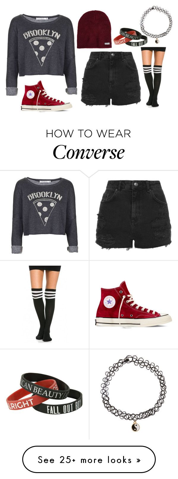 """""""Outfit #354"""" by cheshirecatin-neverland on Polyvore featuring Topshop, Project Social T, Neff, Converse and Accessorize"""
