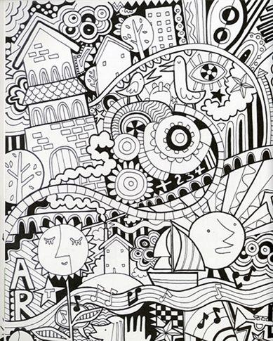 95 Zen Art Coloring Page
