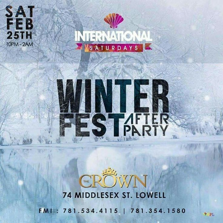 #TONIGHT ➡️All New #IntlSaturdays🌍  WiNTER FEST AFTER PARTY ⏰10p-2a  LADIES #FREE before 11:30 W/RSVP HipHop x Reggae x Afrobeats x Latin & More  ➡️#CROWN 74 Middlesex st. Lowell  FMI / VIP ☎️781.534.4115