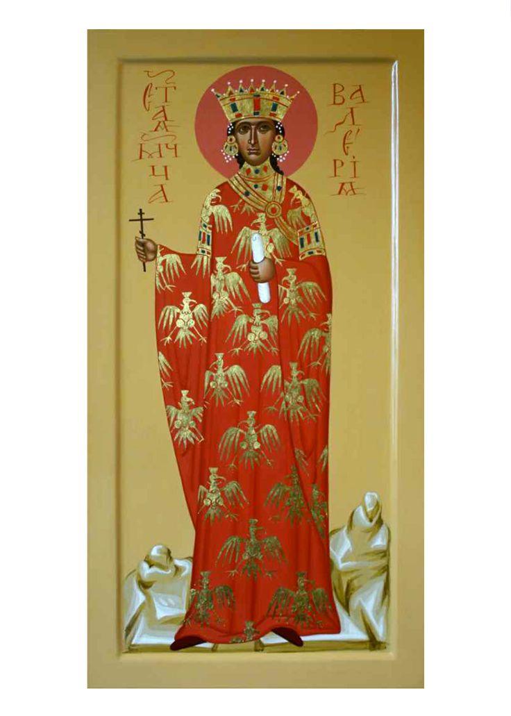 Святая мученица царица Валерия, дерево, темпера #rkpm