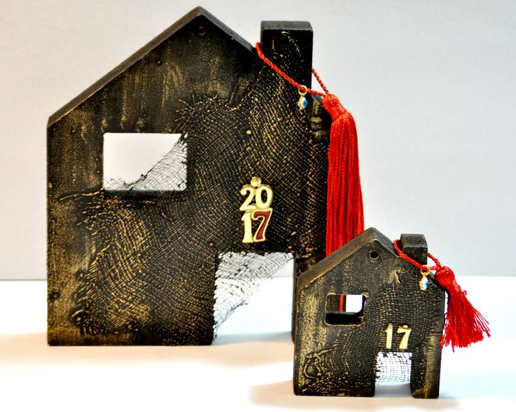 Lucky Charm House, Wooden House, Good Luck Gift, Charms, Ceramic, Gift For Home, Good Luck Charms, Gift For Women, Gift For Men, Good Luck by AnthiCreativeTouch on Etsy