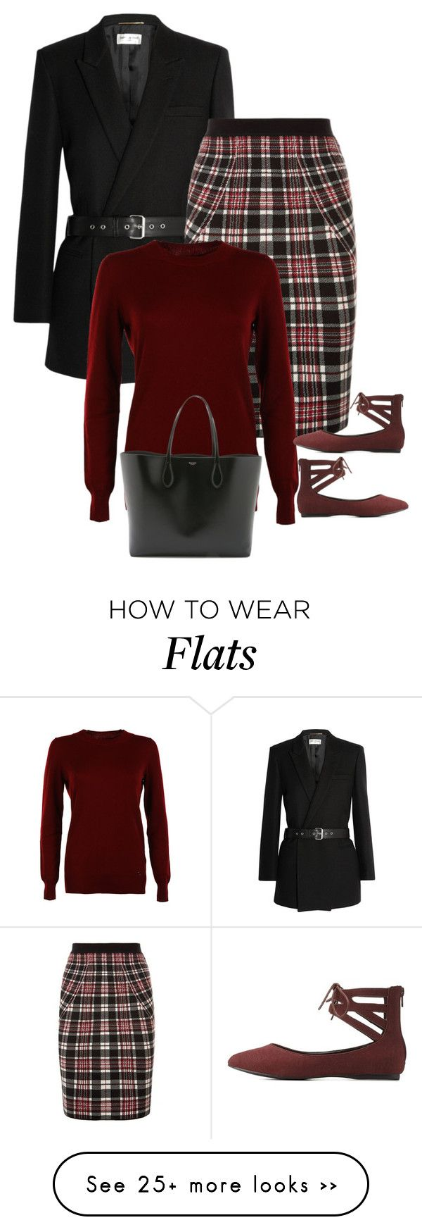 """Commuter"" by ladygroovenyc on Polyvore featuring Yves Saint Laurent, Alexander McQueen, Gucci, Rochas and Charlotte Russe"
