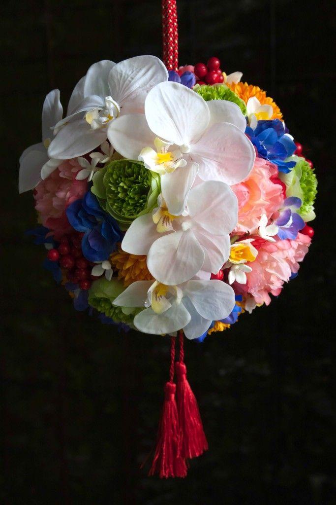 和装のボールブーケは造花ブーケがおすすめ