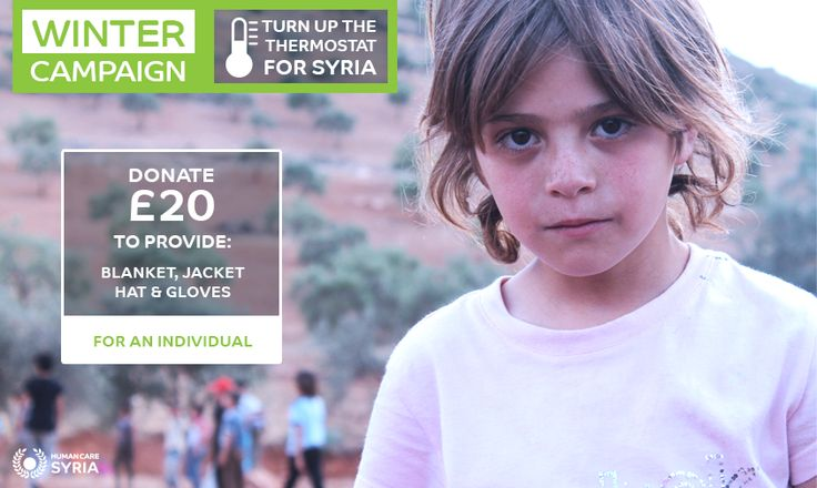 Winter Campaign, Turn up the thermostat for Syria! www.humancaresyria.org #syria #winter #campaign