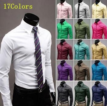 Check this product! Only on our shops   Men Shirt Long Sleeve Slim Fit Manga Larga Hombre Mens Dress casual Shirt solid m- xxxl white red green blue grey wholesale - US $20.48 http://promenshop.com/products/men-shirt-long-sleeve-slim-fit-manga-larga-hombre-mens-dress-casual-shirt-solid-m-xxxl-white-red-green-blue-grey-wholesale/