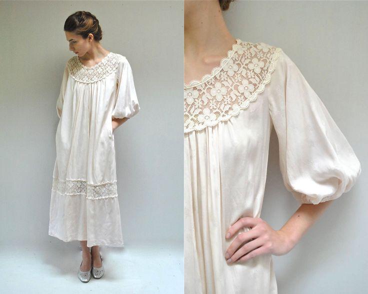 Muumuu Dress  //  Cotton NightGown  //  QUARTZ PINK by VintageUrbanRenewal on Etsy