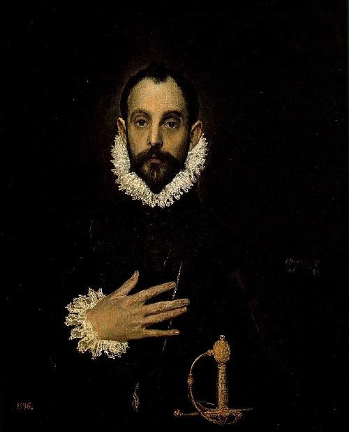 El caballero de la mano en el pecho (1578 - 1580) - Doménikos Theotokópoulos (El Greco)