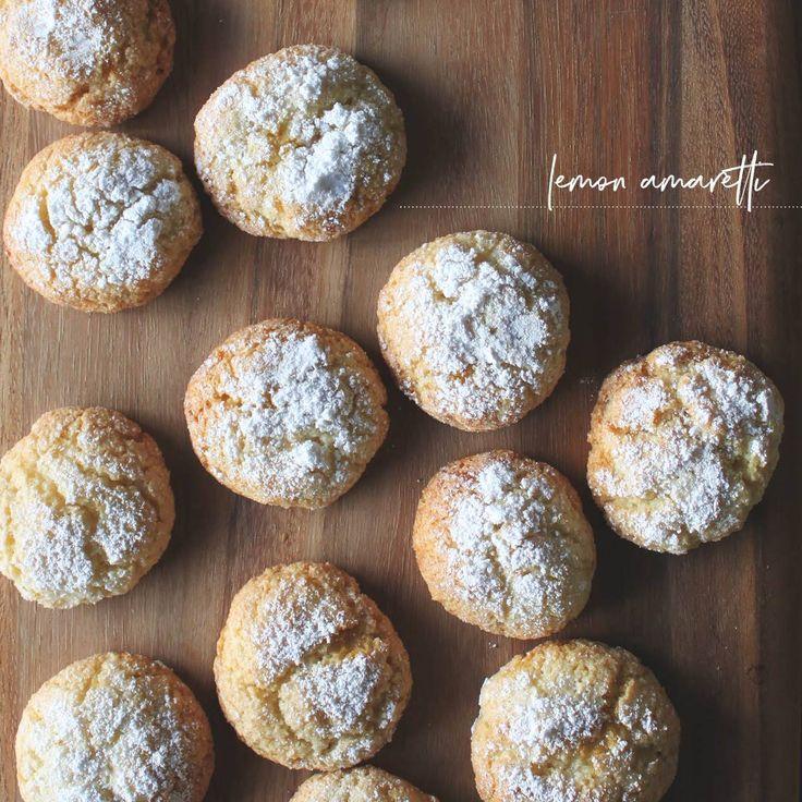 Lemon Amaretti - soft, chewy and oh so delicious!   Acqua Design Studio  |  acquadesignstudio.com.au