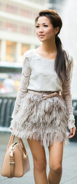 Feather Weather :: Lace Tiered Top & Delicate Skirt