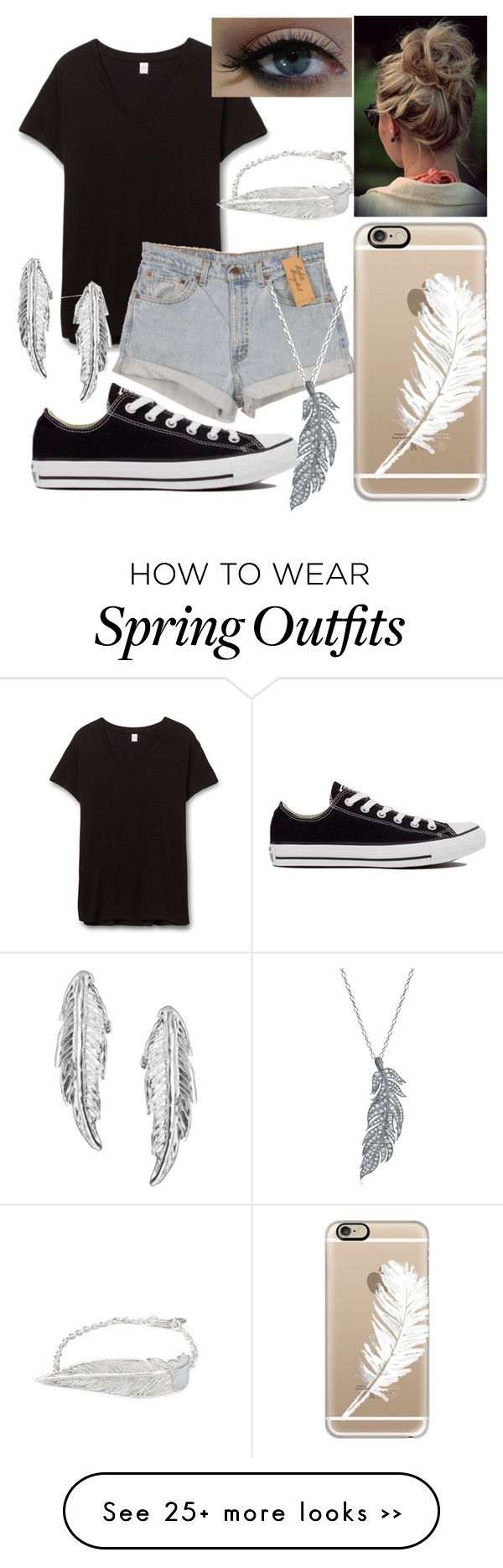 """""""School outfit"""" by gabriela-27-99-11 on Polyvore featuring Levi's, Converse, Stone Paris, LeiVanKash and Casetify"""