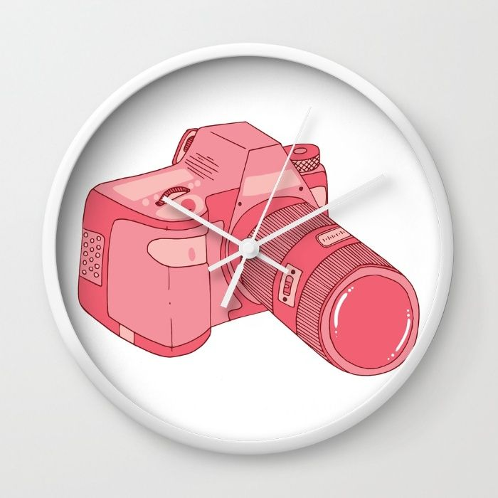 The Pink Camera Wall Clock
