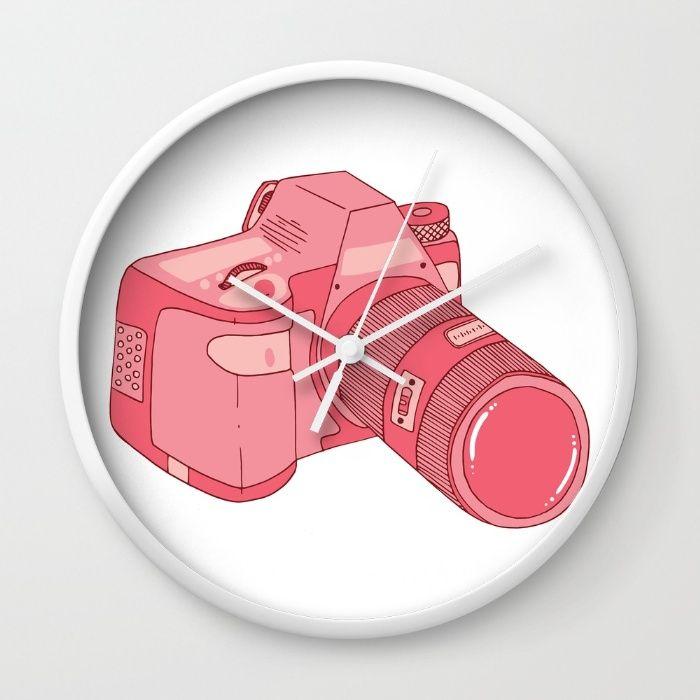 The Pink Camera Wall Clock
