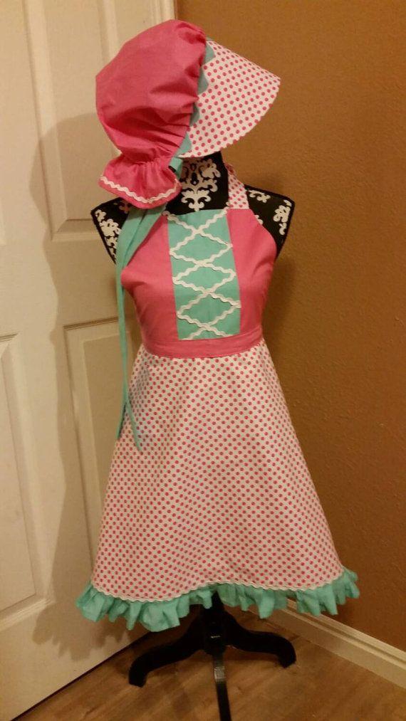 Adult Size Little Bo Peep Apron with matching Bonnet, Little Bo Peep Costume,  Bo Peep Bonnet, Easter Costume, Toy Story Bo Peep Costume
