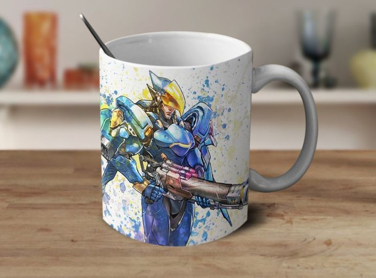 Pharah Overwatch Mug Overwatch Coffee Mug Color Changing Mug Magic Mug OV-5 #Handmade