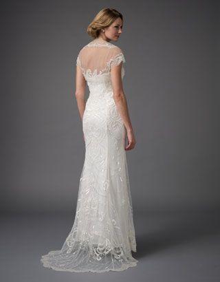 Ellis Bridal Dress & Shrug | White | Monsoon