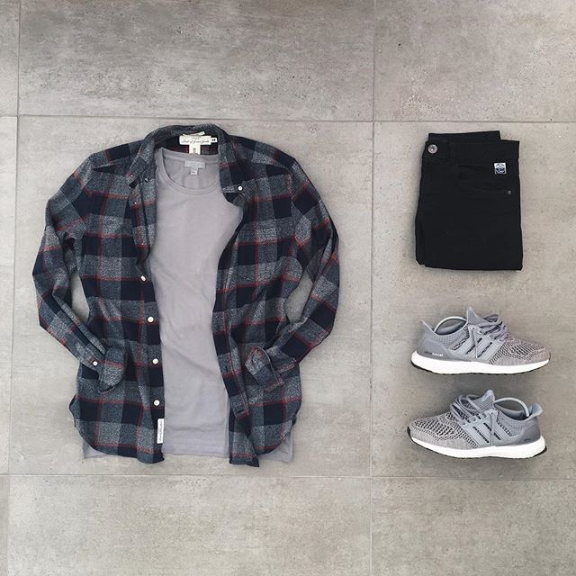WEBSTA @ frenchoutfit - #FrenchOutfit @clementtirel• Flannel #hm• Tee…