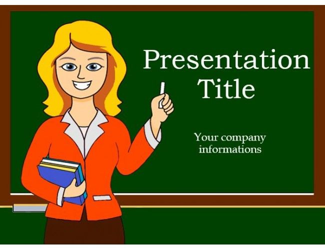 Free Powerpoint Template Displaying Teacher And Green Board Math Powerpoint Powerpoint Template Free School Powerpoint Templates