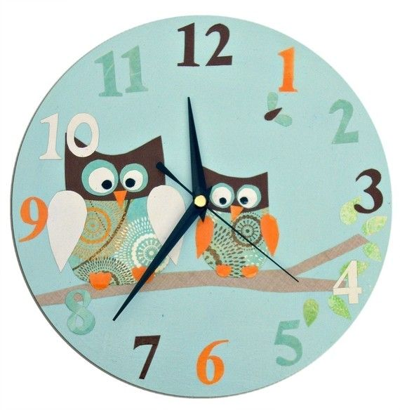 More inspiration for the nursery - an owl theme clock.