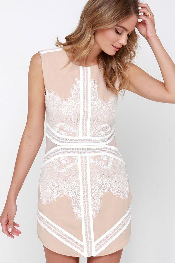 neutral shift dress for summer