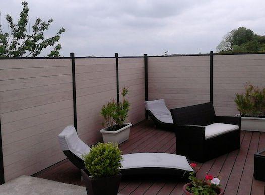 Les 25 meilleures id es concernant lame composite cloture sur pinterest lam - Lame terrasse leroy merlin ...