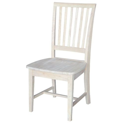 Set of Two Mission Unfinished Wood Chairs