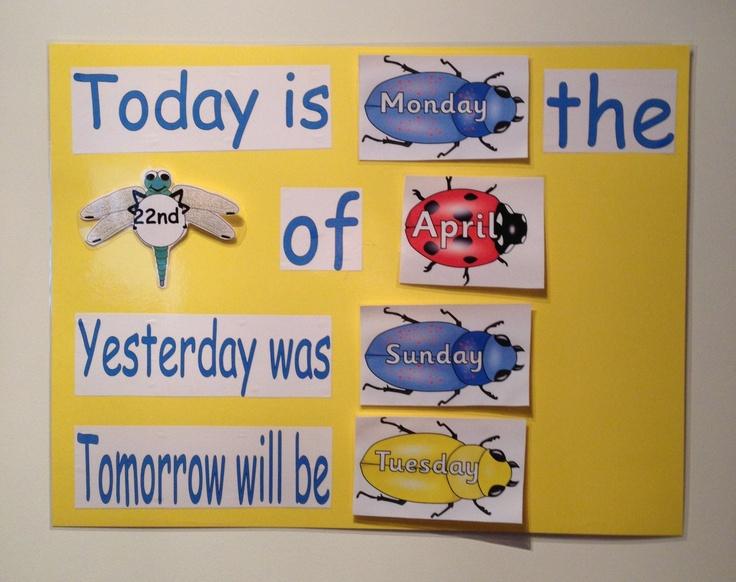 Pre Primary Classroom Decoration Ideas : Minibeast theme calendar i made it for upcoming atp prac
