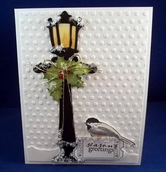 pin on die cut christmas cards