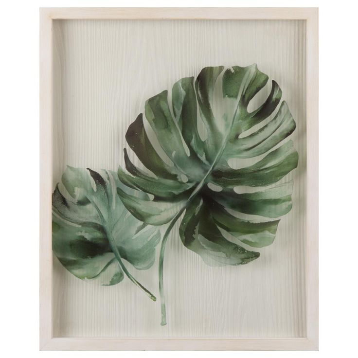 Palm Leaf Plexiglass Framed Art