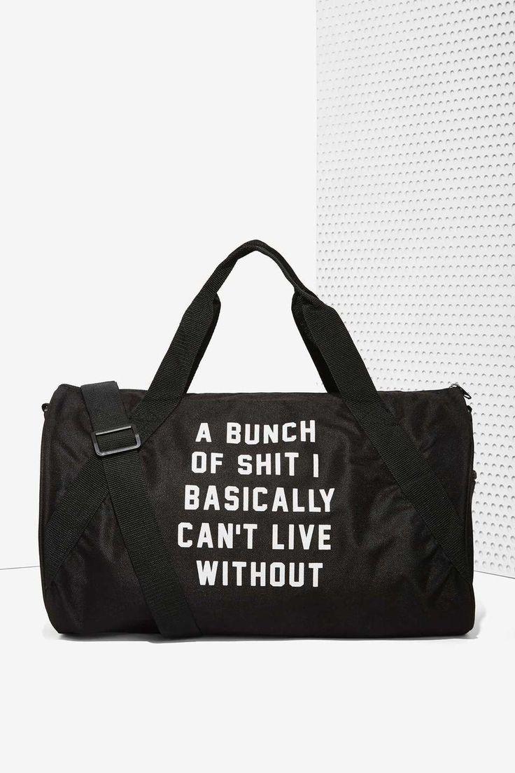 Nasty Gal Danielle Guizio Important Sh*t Duffel Bag