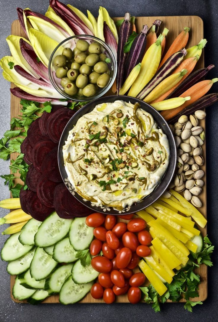 Pistachio Yogurt Dip - perfect for vegetable platter dips or as a heart health sauce. #ad