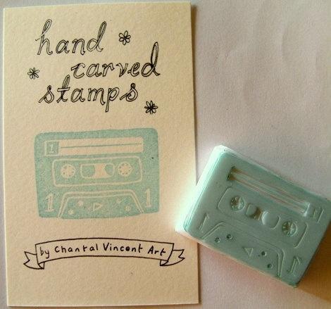 Cassette stamp. Segell d'un cassette