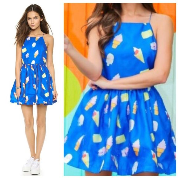 Renamed Ice Cream Party Dress Super fun dress with Katie Perry-esque ice cream print! New with tags! Renamed Dresses Mini
