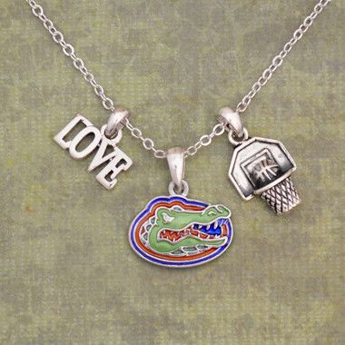 Love Florida Gators Basketball Necklace