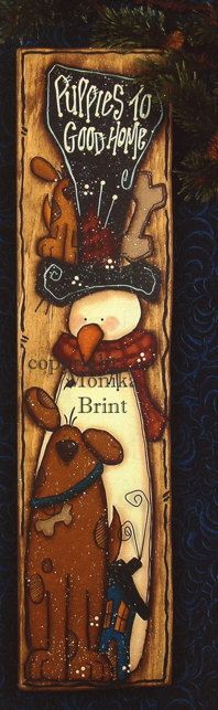 Puppy DogChristmas DecorationPrimitive by cranberrylicorice, $7.50