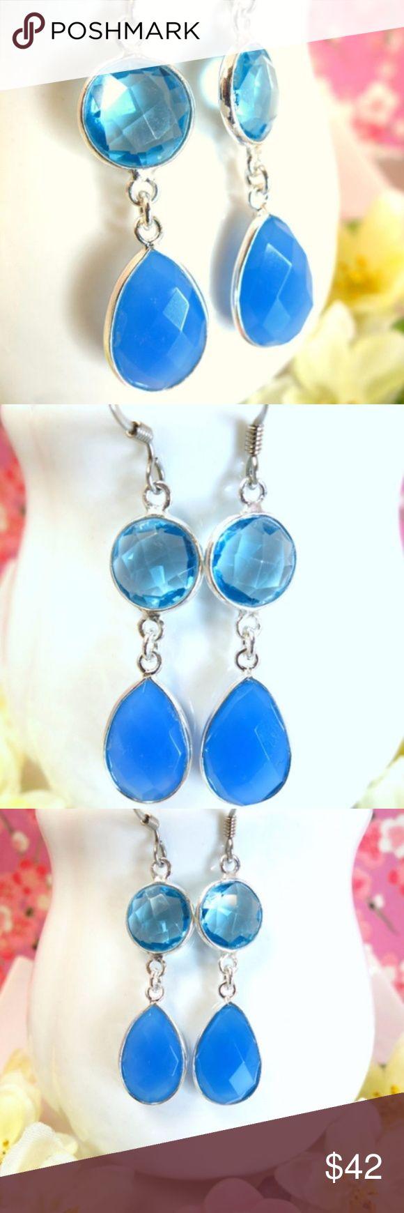 I just added this listing on Poshmark: Aqua blue quartz and blue chalcedony earrings. #shopmycloset #poshmark #fashion #shopping #style #forsale #Kblossoms #Jewelry