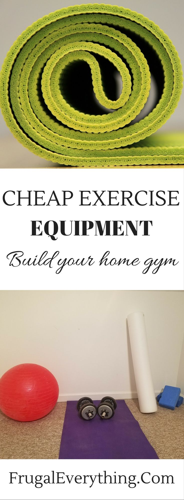 Having a home gym doesn't have to break the bank.  You can build a home gym for under $200 with these cheap (but reliable) pieces of exercise equipment.