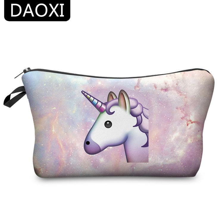 BUY now 4 XMAS n NY. DAOXI Unicorn Cosmetic Bags 3D Printing Women Necessary for Travel Storage Makeup * Detailed information can be found on  AliExpress.com. Just click the image