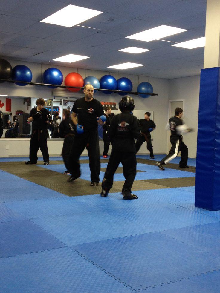 Sparring practice at Sunday Black Belt Club!